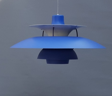 Blue PH5 Hanging Lamp by Poul Henningsen for Louis Poulsen
