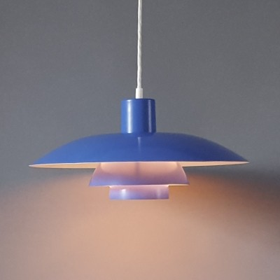 Blue PH 4/3 Hanging Lamp by Poul Henningsen for Louis Poulsen