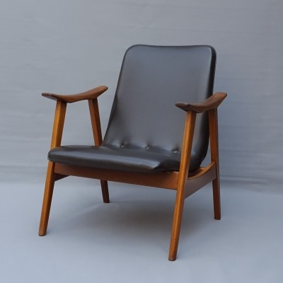 Brown Arm Chair by Louis van Teeffelen for Wébé