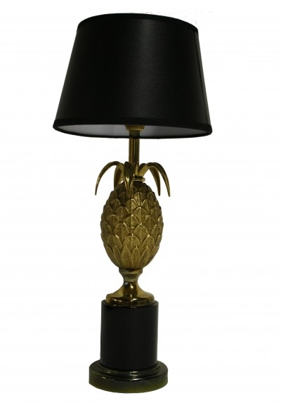 French brass pineapple table lamp, 1970s
