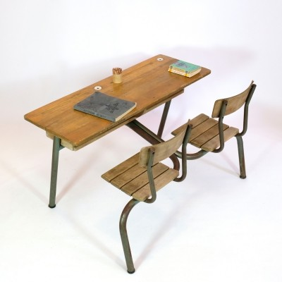Double desk for children, France 1960's-1970's