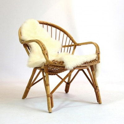 French rattan armchair from the 60's-70's