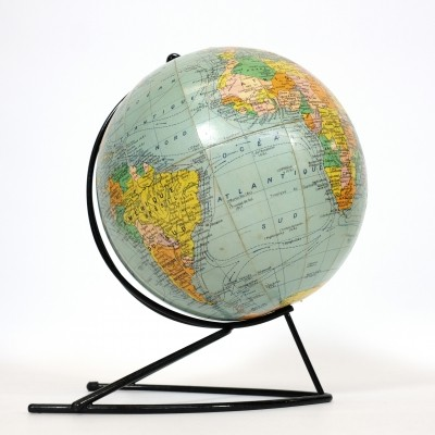Vintage world globe by Girard et Barrère, France 1960's