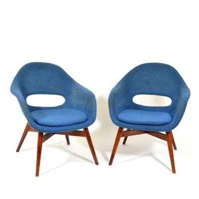 Pair of Miroslav Navrátil arm chairs, 1960s