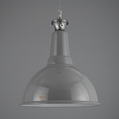 XL grey enamel pendant lights by Benjamin