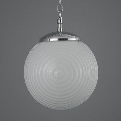 Retro period opaline glass globe pendant lights