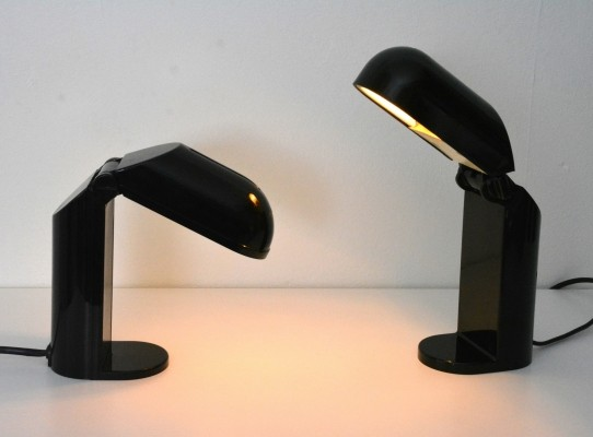 Pair of Face desk lamps by Vrieland, 1970s