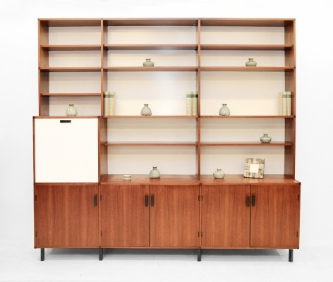 Made to measure wall unit by Cees Braakman for Pastoe, 1960s