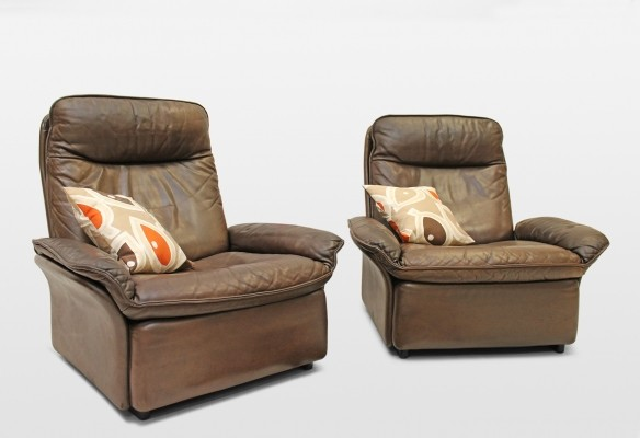 Pair of De Sede lounge chairs, 1970s