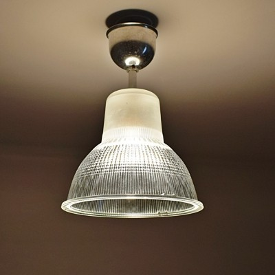 70 x glass Ceiling lamp / hanging lamp, 1970s