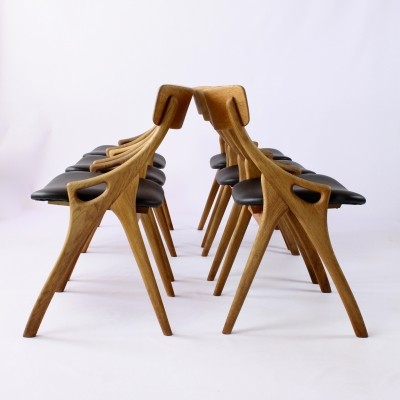 Dinner chairs by Arne Hovmand Olsen for Mogens Kold Furniture, Denmark