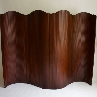 Large Early 20th Century Tambour Screen