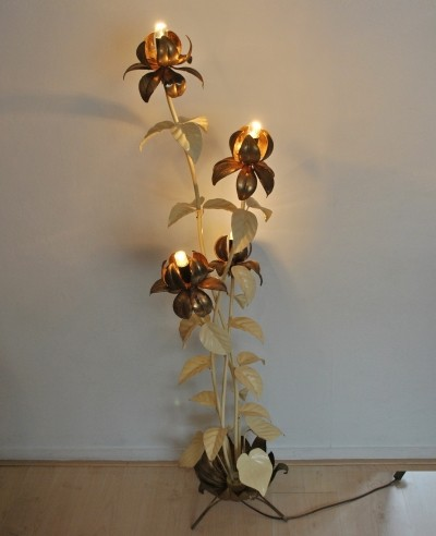 Floral floorlamp from the fifties