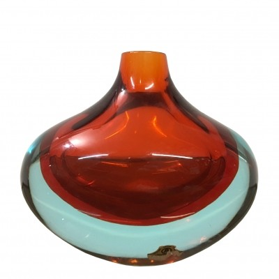 1960s Flavio Poli for Seguso Murano glass vase