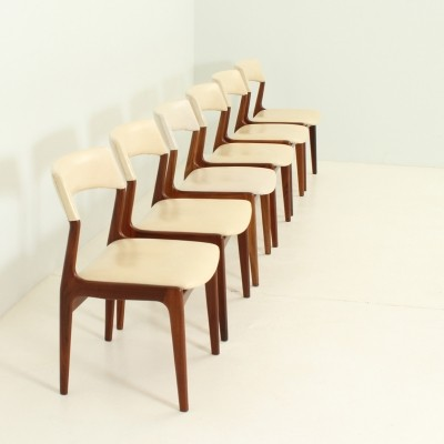 Set of Six Dining Chairs in Teak Wood by Mahjongg Vlaardingen