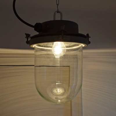 30 x Glass & metal lantern lamp, 1970s