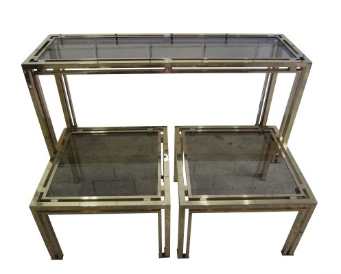 Vintage messing Console & side tables by Belgo Chrom