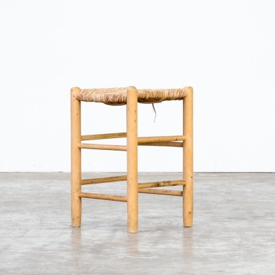 Wicker stool by Charlotte Perriand for L'Equipement de la Maison