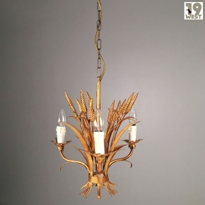 Golden Florentine chandelier from the 1970's