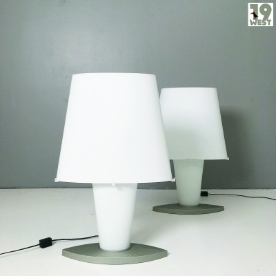 Two large 1990's table lamps by Daniela Puppa for Fontana Arte