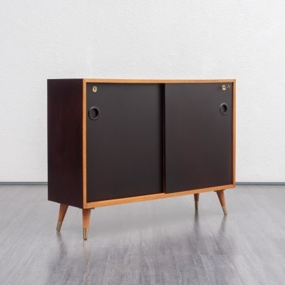 1950s cherrywood cabinet with black doors