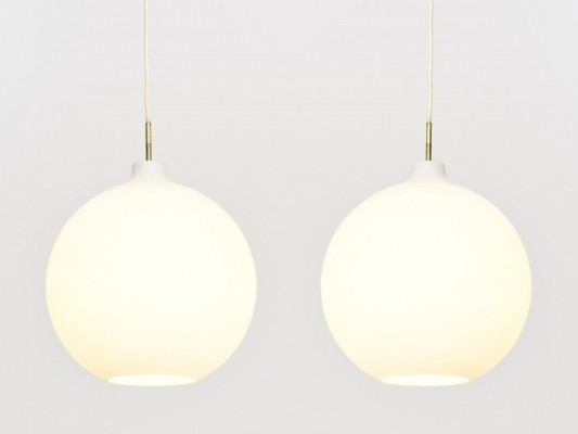 2 large Satellite pendants by Vilhelm Wohlert for Louis Poulsen