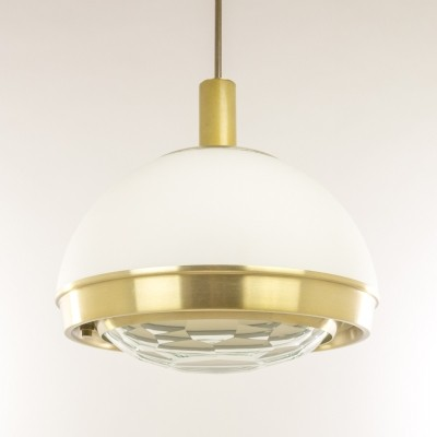 Brass pendant with faceted glass by Pia Guidetti Crippa for Lumi, 1960s