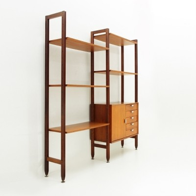 Wall Unit with aluminium details by Faram, 1960s