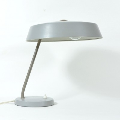 Grey metal desk lamp, 1970s