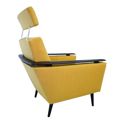 Scandinavian Mid-Century armchair with headrest, 1970s
