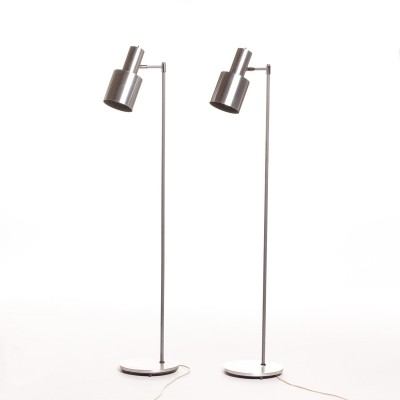 Aluminum Studio Floor lamp by Jo Hammerborg for Fog & Morup, 60's