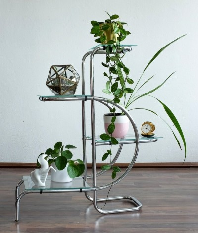 Functionalist flower stand by Emile Guyot for Thonet-Mundus, 1930s