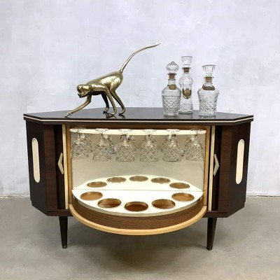 Midcentury modern fifties cocktail liquor cabinet