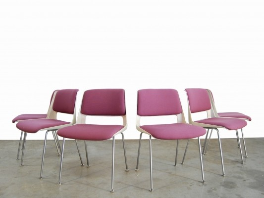 Set of 6 Stratus dining chairs by A.R. Cordemeyer for Gispen, 1960s