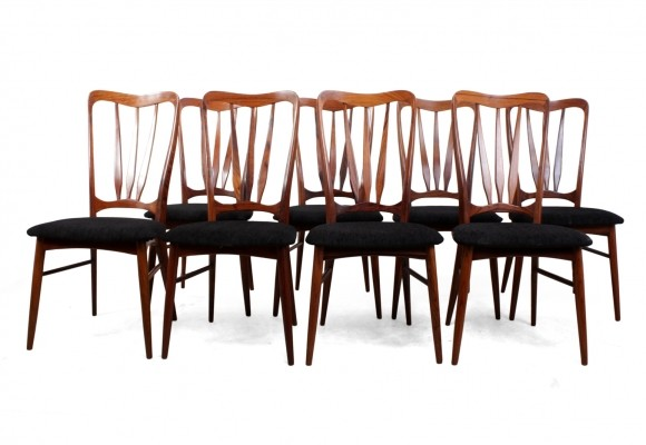 Set of 8 Mid Century Dining Chairs 'Ingrid' by Koefoeds Hornslet