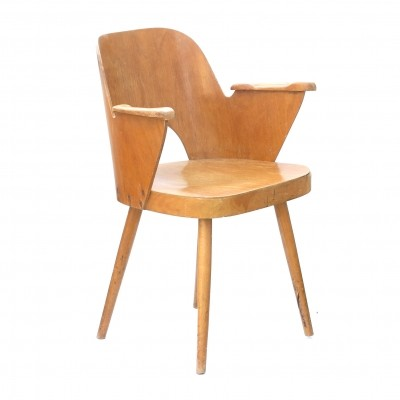 Model 1515 arm chair by Oswald Haerdtl for Ton Czechoslovakia, 1960s