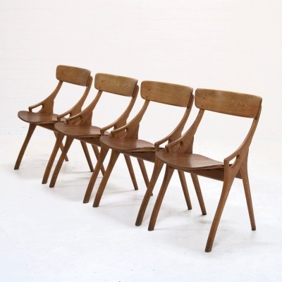 Set of 4 Dining Chairs by Hovmand Olsen for Mogens Kold, 1950's