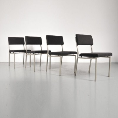 Set of 4 Minimalist Dutch design dining chairs by Martin Visser for Spectrum