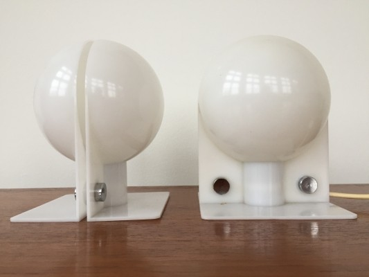 Pair of Sirio desk lamps by Sergio Brazzoli & Ermano Lampa for Guzzini, 1970s