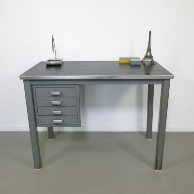 Small steel industrial desk by Gispen