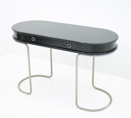 Black Ladies Desk or Console Table, Italy 1960s