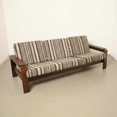 Sofa with Wengé wood frame, 1970s