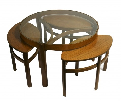 Vintage trinity 'model 5614' nesting tables by Nathan furniture, 1960s