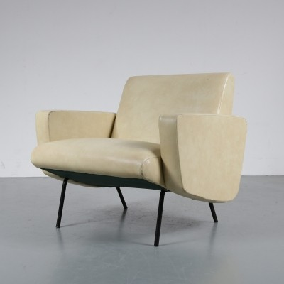 1950s French lounge chair by Joseph André Motte