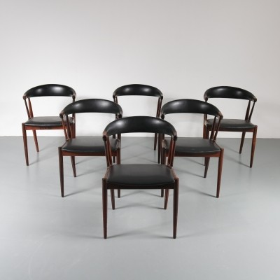 Set of six Cowhorn chairs by Johannes Andersen, 1950s