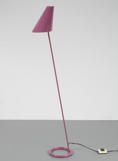 Danish metal floor lamp by Hans Agne Jakobsson, 1960s