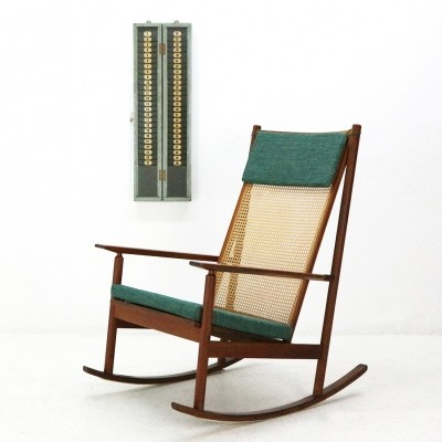 Teak Rocking Chair Model 532A by Hans Olsen for Juul Kristensen