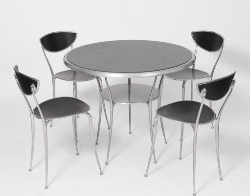 Odeon dining set by Claudio Feltrin for Arper, 1990s