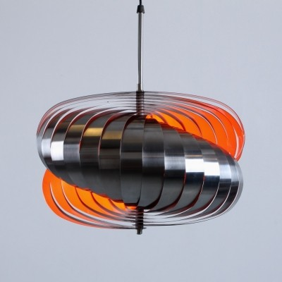 Stainless steel spiral pendant by Henri Mathieu