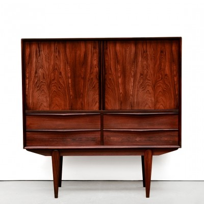 Danish design Rosewood highboard by E.W Bach